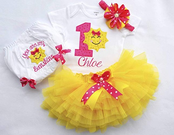 Amazon Com  You Are My Sunshine Outfit,first Birthday Outfit Girl
