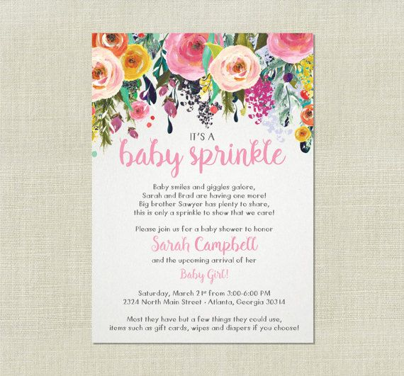 Baby Girl Sprinkle Invitations 249 Best Baby Shower Images On