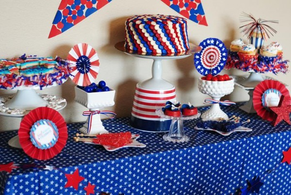 Kara's Party Ideas Red White Blue July 4th Party Planning Ideas