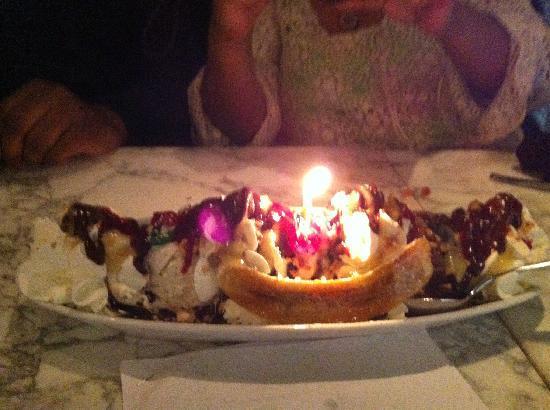 Fabulous Banana Split Sundae Birthday Dessert