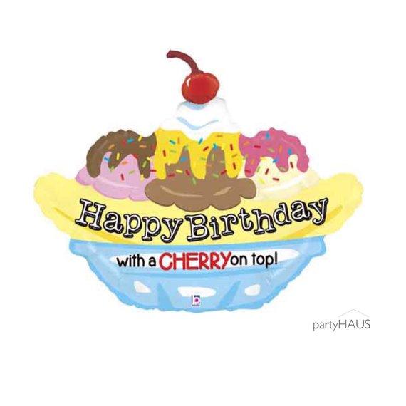 Banana Split Balloon 29 Inch Ice Cream Party Birthday Party