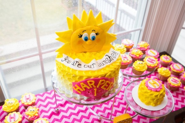 Kara's Party Ideas You Are My Sunshine Themed First Birthday Party