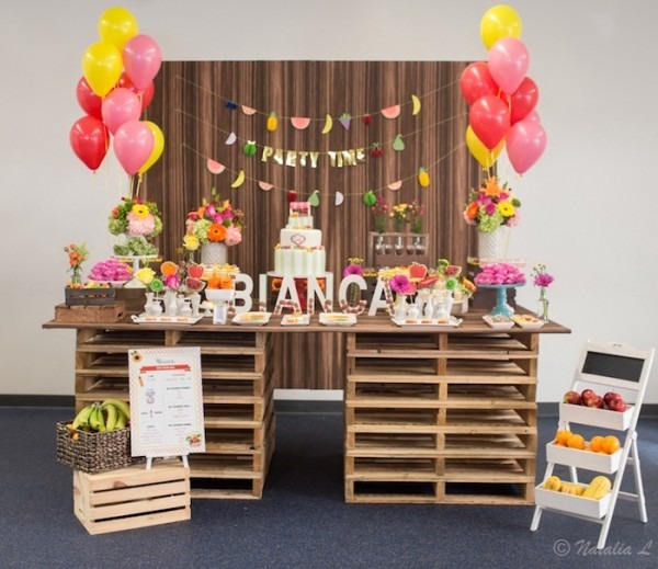 Kara's Party Ideas Floral Farmer's Market Birthday Party